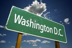 Washington D.C. Road Sign With Dramatic Clouds