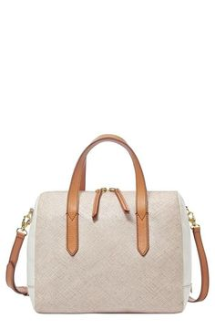 Chic sandy satchel.