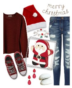 """Merry Christmas!! 👶⛪✨🌟🎅🌠"" by krgood7 ❤ liked on Polyvore featuring Current/Elliott, Celebrate Shop, NUÉ NOTES, Amrita Singh, Converse, Christmas, holidays, santa and babyjesus"