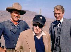 Costumes - John Wayne avec John Ford et James Stewart - L'Homme qui tua Liberty Valance - 1962 - Chemise