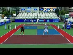 Tennis Drill, Four Players on a Court