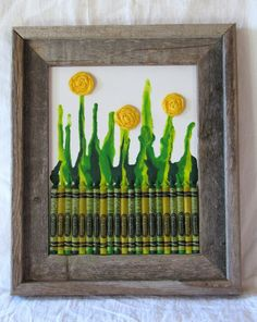 Crafty Monday: Melted Crayon Art