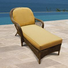 NorthCape International Wicker Deep Seating Chaise Lounge Replacement Cushions - My Website 2020 Chaise Cushions, Sunbrella Replacement Cushions, Lounge, Deep, Patio Accessories, Outdoor Wicker Furniture, Furniture Catalog, Steel Furniture