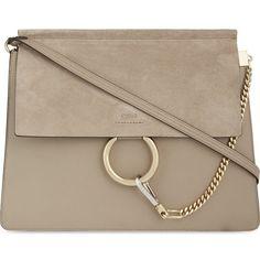 CHLOE Faye suede satchel ($1,795) ❤ liked on Polyvore featuring bags, handbags, black, black satchel purse, black purse, black structured handbag, structured satchel and black handbags