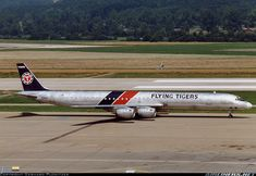 Photo taken at Zurich (- Kloten) (ZRH / LSZH) in Switzerland on September Tiger Airlines, Cargo Airlines, Mcdonald Douglas, Douglas Dc 8, Douglas Aircraft, Newfoundland And Labrador, Commercial Aircraft, Old Pictures, Tigers