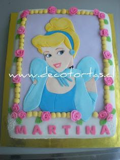 Decotortas: La Cenicienta 2D - rectangular - For all your cake decorating supplies, please visit craftcompany.co.uk