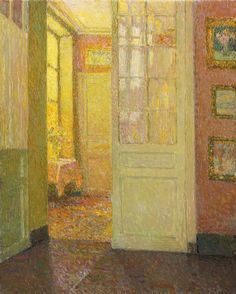 Henri Le Sidaner. Interior, Light from the Window, 1931