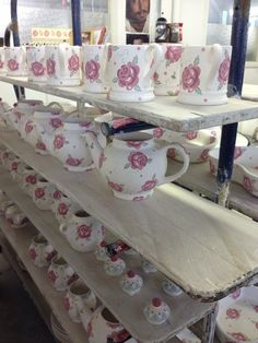 Emma Bridgewater Rose & Bee Four Cup Teapot and Rose & Bee Tea For Me NEW for Spring 2014