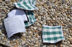 Upcycling Abschminkpads aus altem Handtuch und Stoffresten / De-make up pads made of old towel and scraps of fabric