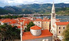 Drink it in … the old town at Budva
