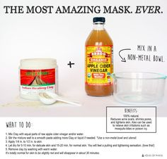 Aztec bentonite clay mask. Be sure to use non-metal spoon and non metal bowl and use Bragg's apple cider vinegar not water!