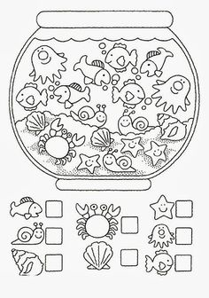 Crafts,Actvities and Worksheets for Preschool,Toddler and Kindergarten.Free printables and activity pages for free.Lots of worksheets and coloring pages. Animal Worksheets, Printable Preschool Worksheets, Kindergarten Math Worksheets, Preschool Curriculum, Worksheets For Kids, Ocean Activities, Preschool Activities, Childhood Education, Kids Education