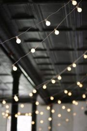 bistro lights. perfect wedding lights:) #DonnaMorganEngaged
