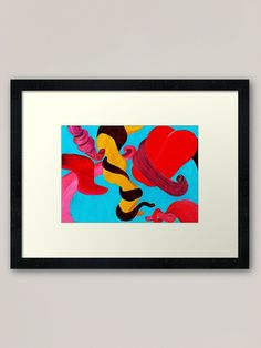 """Tongue-tied Acrylic Painting"" Framed Art Print by PositivePrinted 
