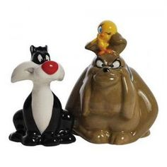 # WG23820 Looney Tunes Sylvester & Hector Salt and Pepper Shakers by sensationaltreasures
