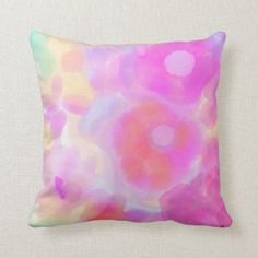 watercolor floral pillow Dorm Pillows, Throw Pillows, Holiday Cards, Christmas Cards, Floral Pillows, Christmas Card Holders, Custom Pillows, Floral Watercolor, Keep It Cleaner