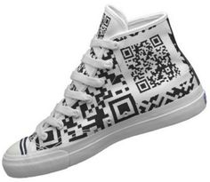 The QR Shoes Sloan Foster created for me on CNN Money