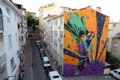 Mural by DEIH (Spain), Yeldeğirmeni - Kadıköy, ISTANBUL - Turkey MuralIST - Istanbul Street Art Festival - Istanbul Sokak Sanatı Festivali