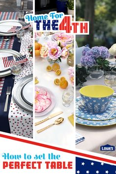 Get inspired to celebrate July 4th with family in style. We can help you decorate the table and make your backyard the best it can be.