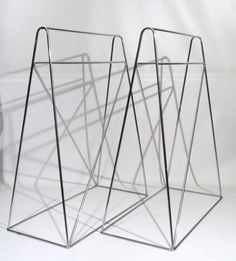 Mid Century Modern Desk Legs Chrome Sawhorse Retro Minimalist Atomic   eBay
