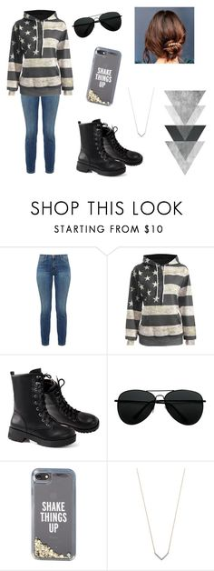 """""""Casual day"""" by ainsleygrace-1 ❤ liked on Polyvore featuring Current/Elliott, Kate Spade, Adina Reyter and Urban Outfitters"""