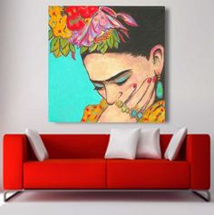 30% Off Today FRIDA KAHLO Print Canvas Gallery by FridaKahloArt