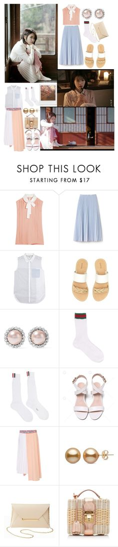 """""""IU- Through the night"""" by bstfashion ❤ liked on Polyvore featuring Miu Miu, Impossible Project, Lacoste, 3.1 Phillip Lim, Soludos, Gucci, Thom Browne, VIVETTA, Charlotte Russe and Mark Cross"""