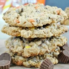 Reese's Monster Cookies recipe (Baking Cookies Corn Syrup)