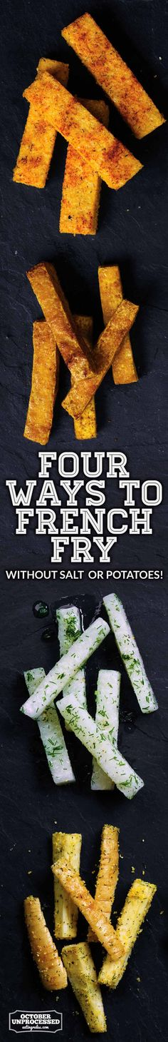These salt-free and potato-free fries are a delicious and healthy twist on an old favorite.
