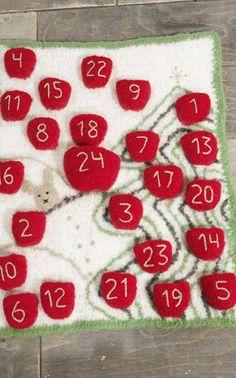 Huovutettu joulukalenteri - ilmainen ohje Novitan nettisivuilla!