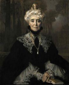 Portrait of Mrs Adeline M. Noble by Francois Flameng (French Classical Art, Portraits, Fine Art, Woman Painting, Figurative Art, American Art, Art Museum, Art History, Art Gallery