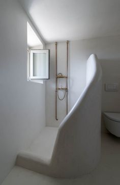 organic bathroom in this renovation in Greece. The house is originally from the 17th century