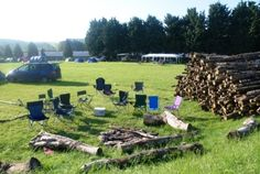 Now thats what I call a log pile and family fire pit!!!! Stonehenge, Campsite, Fire, Camping