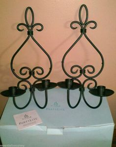 PartyLite Windsor Taper Candle Sconce Pair NIB COLLECTIBLE DISCONTINUED P7964  $9.99 BIN $12.31 SH