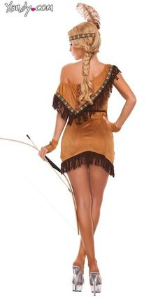 Sexy Dream Catcher Costume, Sexy Pocahontas Costume, Sexy Indian Costume
