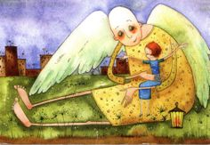 This card came from a loving woman in Russia who read I'd lost my son and sent me an angel hug. Thank you Kobyashi Issa!