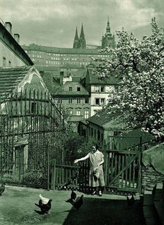 """Back to Bohemia - "" Prague in Spring, 1931 "" by Jan Posselt"" Old Pictures, Old Photos, Vintage Photos, Beautiful Pictures, Beautiful Places, Prague Czech Republic, Heart Of Europe, Central Europe, Places To Go"