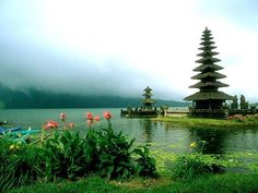 Ulun Danu Bratan Temple in Bali. Bali is an Indonesian Island Vacation Places, Vacation Spots, Places To Travel, Vacations, The Places Youll Go, Places To Visit, Beautiful World, Beautiful Places, Beautiful Scenery