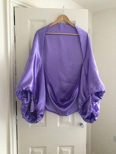 Lavender, lilac kimono, 1920's festival flapper shrug.