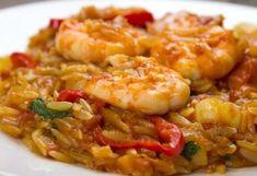 Τέλειο κριθαρότο γαρίδας Greek Recipes, Fish Recipes, Seafood Recipes, Cookbook Recipes, Cooking Recipes, Healthy Cooking, Healthy Recipes, Greek Cooking, Fish And Seafood