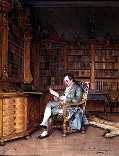 The Bibliophile by Johann Hamza