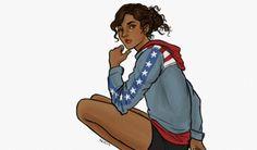 America Chavez fanart by nicagalvez Marvel Fan Art, Marvel Heroes, Marvel Dc, Marvel Comics, Dc Comics Women, Marvel Women, Marvel Girls, Kate Bishop Hawkeye, Shes Beauty Shes Grace