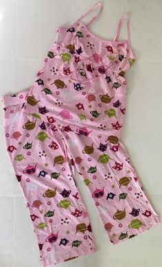 Nick & Nora PAJAMAS top bottoms PINK TEAPOTS Women's cotton knit sz Small | Clothing, Shoes & Accessories, Women's Clothing, Intimates & Sleep | eBay!