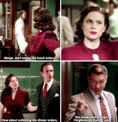 Agent Carter - Hollywood Ending - - I used to hate him now I'm worried about him <<< I still hate him immensely, but I am mildly upset that he's presumably dead Marvel Women, Marvel Heroes, Marvel Avengers, Peggy Carter, Dc Movies, Marvel Movies, Avengers Memes, Marvel Funny, Disney Marvel