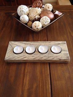 Wood tea light holder, candle holder, pallet blocks, reclaimed on Etsy, £9.00