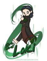 Rude - DarkWorld!Loki by caycowa