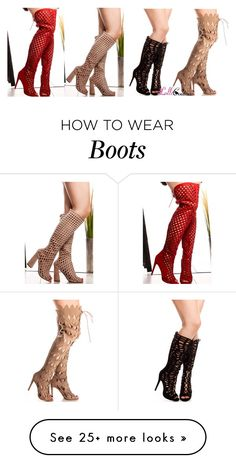 """Cutout Boots"" by lollicouture on Polyvore featuring cutout, Boots and women"