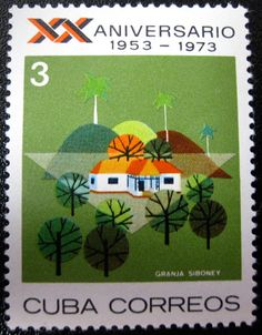 Postage Stamp, Cuba 1953-1973