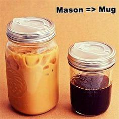 Mason Jar To Coffee Mug... With This Sippin' Lid.