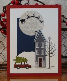 Holiday Home and White Christmas from Stampin' Up! Christmas Card Crafts, Christmas Mom, Christmas Cards To Make, Xmas Cards, Holiday Cards, White Christmas, Christmas Ideas, Beautiful Christmas Cards, Minis